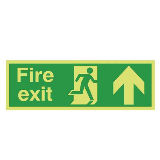 Picture of Photoluminescent Fire Exit Up Arrow Sign