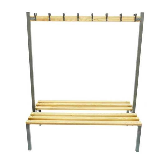 Picture of Double Sided Cloakroom Bench with Coat Hooks