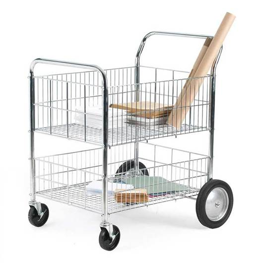 Picture of Chrome Plated Wire Trolley with Removable Shelf