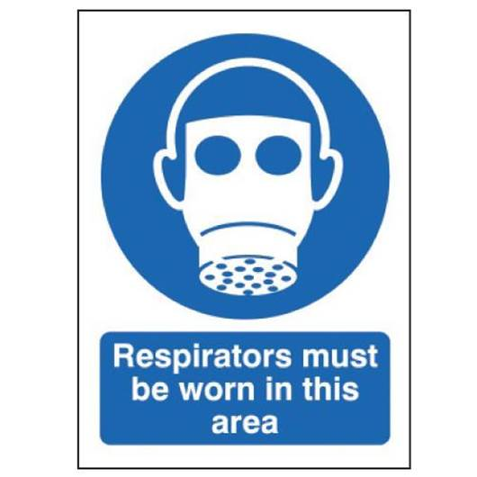 Picture of Respirators Must Be Worn In This Area Sign