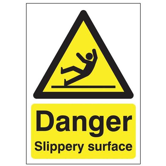 Picture of Danger Slippery Surface Sign